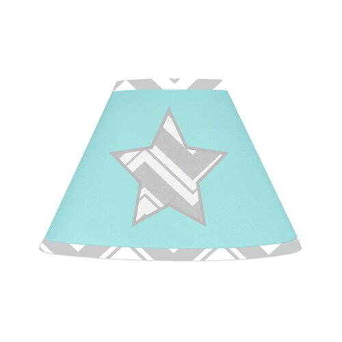 Sweet Jojo Designs Zig Zag Turquoise and Gray Collection Lamp Shade