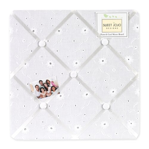 Sweet Jojo Designs Eyelet White Memo Board