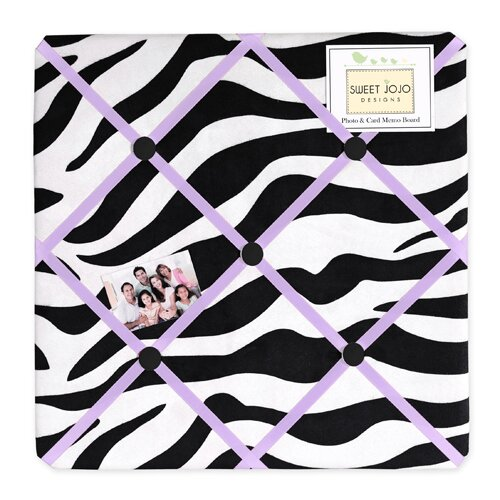 Sweet Jojo Designs Zebra Memo Board