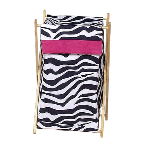 Sweet Jojo Designs Zebra Pink Laundry Hamper