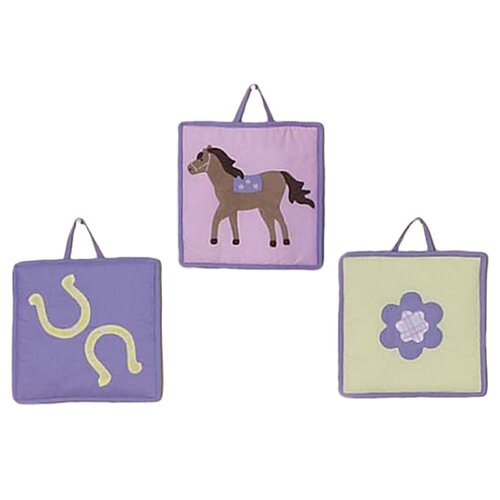 Sweet Jojo Designs 3 Piece Pony Collection Wall Hanging Set