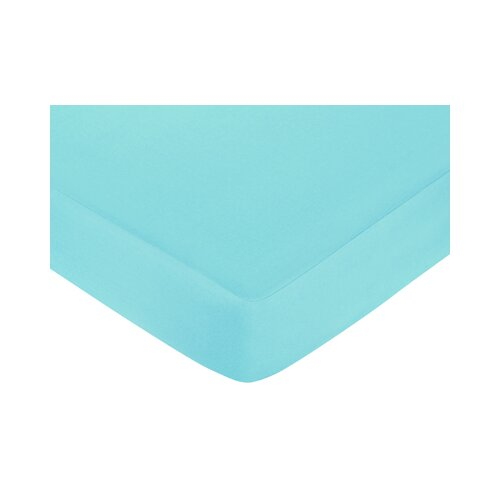 Hooty Turquoise Fitted Crib Sheet