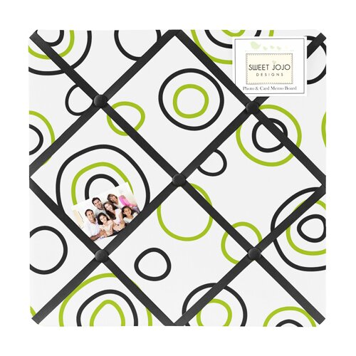 Sweet Jojo Designs Lime and Black Spirodot Memo Board