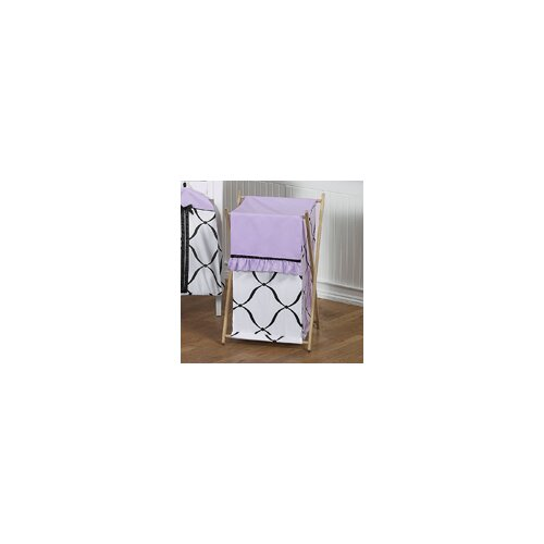 Princess Black, White and Purple Laundry Hamper