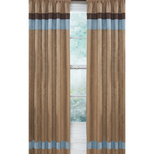 Sweet Jojo Designs Soho Blue and Brown Curtain Panel