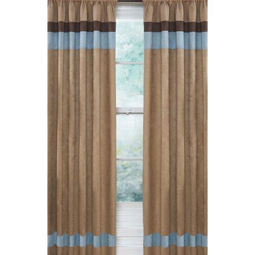 Sweet Jojo Designs Soho Blue And Brown Curtain Panels Reviews Wayfair