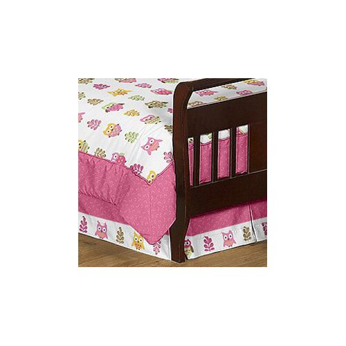 Sweet Jojo Designs Happy Owl Toddler Bed Skirt