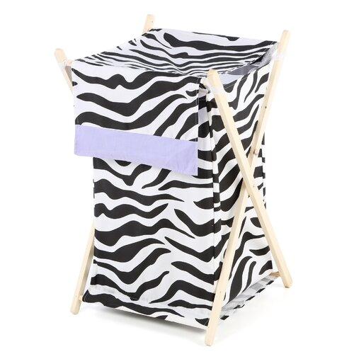 Sweet Jojo Designs Zebra Purple Laundry Hamper