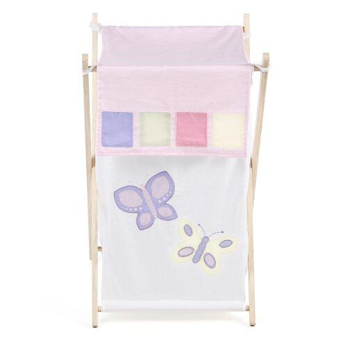 Sweet Jojo Designs Butterfly Pink and Purple Laundry Hamper