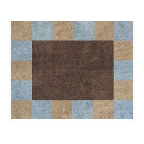 Sweet Jojo Designs Soho Blue and Brown Collection Floor Rug