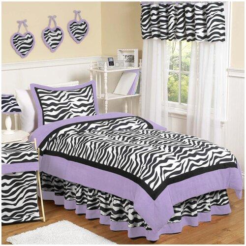 Zebra Purple Comforter Set