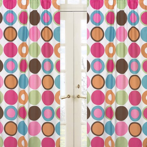 Sweet Jojo Designs Deco Dot Curtain Panel