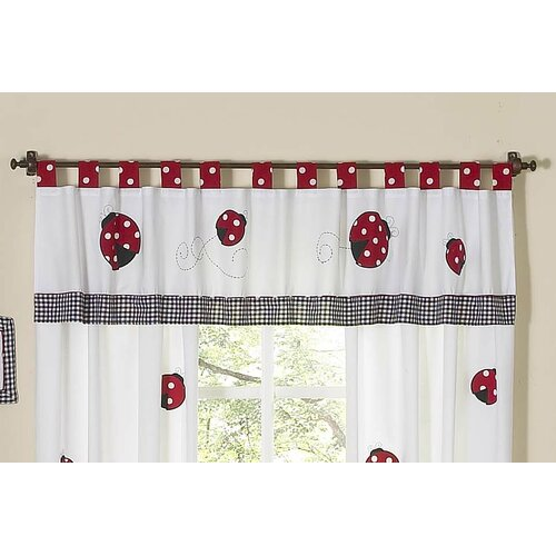"Sweet Jojo Designs Little Ladybug 84"" Curtain Valance"