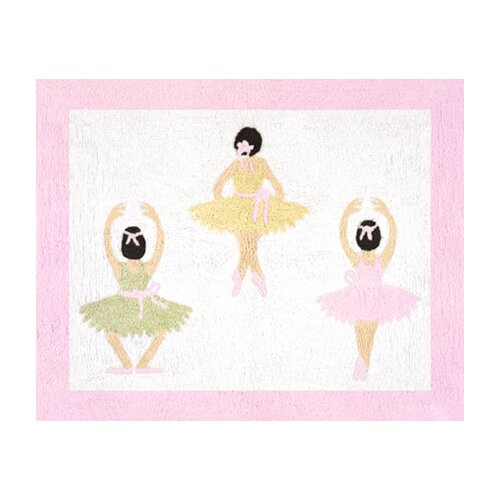 Sweet Jojo Designs Ballerina Collection Floor Rug