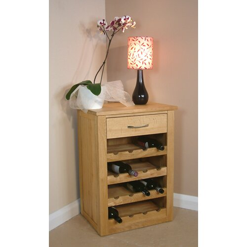 Baumhaus Mobel Oak Wine Rack Lamp Table