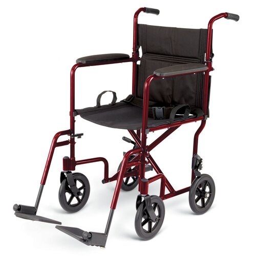 "Medline 19"" Ultra Lightweight Transport Bariatric Wheelchair"