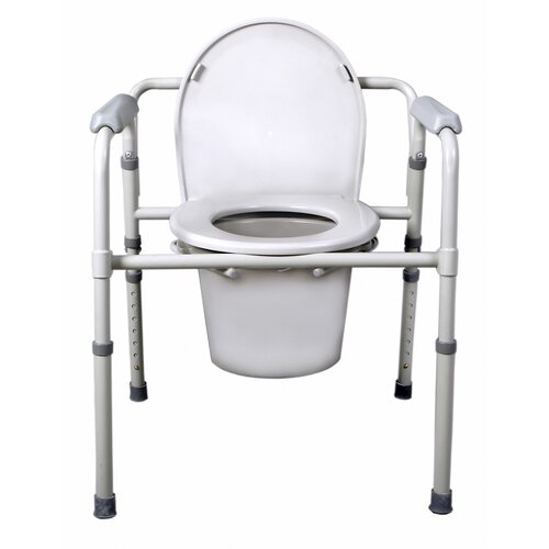 Medline 3-in-1 Deluxe Foldable Commode