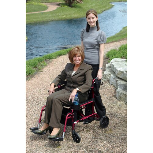 "Medline Combination 19"" Ultra Lightweight Rollator/Transport Wheelchair"
