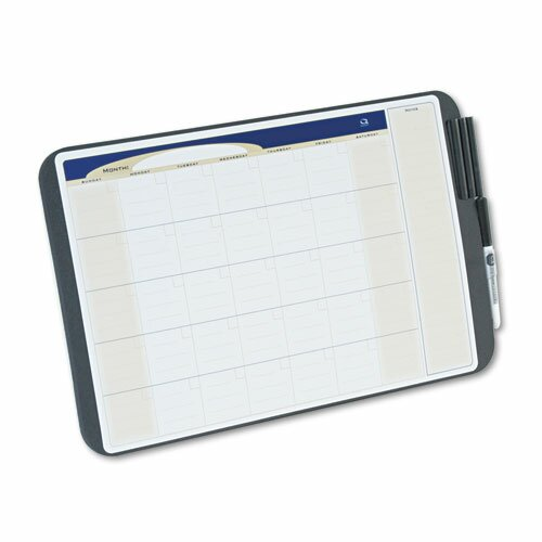 Quartet® Tack & Write Monthly Calendar Board in Black