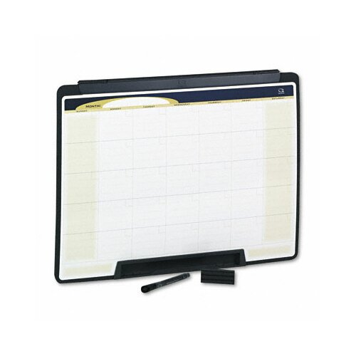 "Quartet® Motion Portable Monthly Calendar Dry Erase 1' 6"" x 2' Whiteboard"