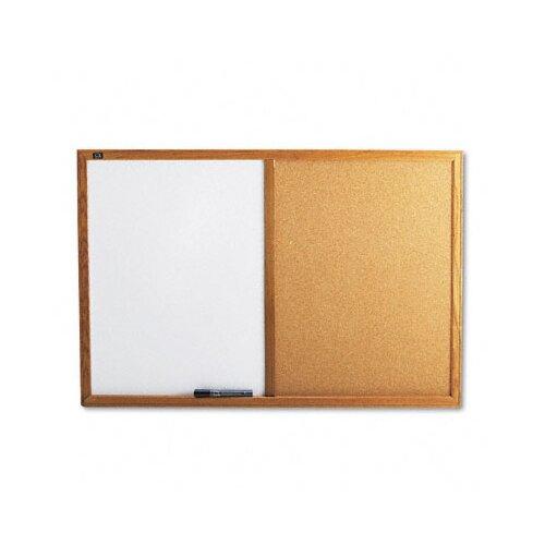 Quartet® Combo Bulletin Board, Dry-Erase Melamine/Cork