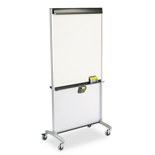 "Quartet® 3-In-1 Easel Mobile 6'4"" x 3' Whiteboard"