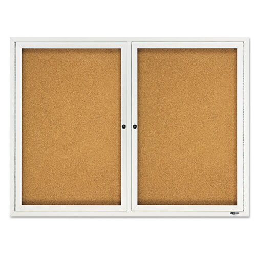 Quartet® Double Enclosed 3' x 4' Bulletin Board