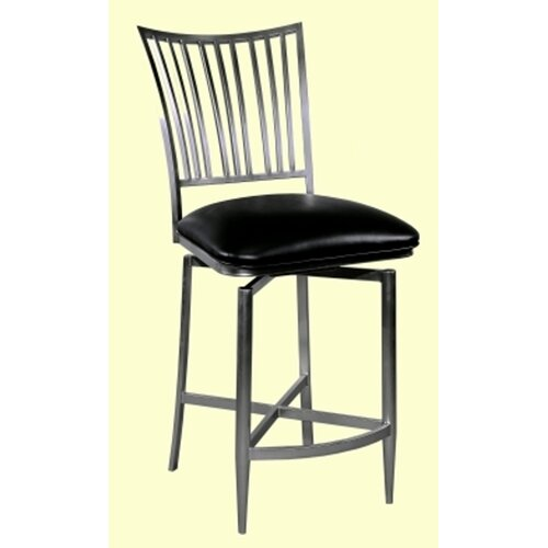 Chintaly Imports Ashtyn Swivel Bar Stool with Cushion