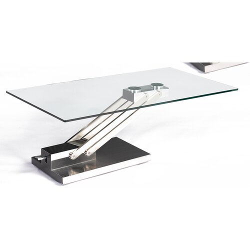 Ryan Coffee Table with Adjustable Steel Base