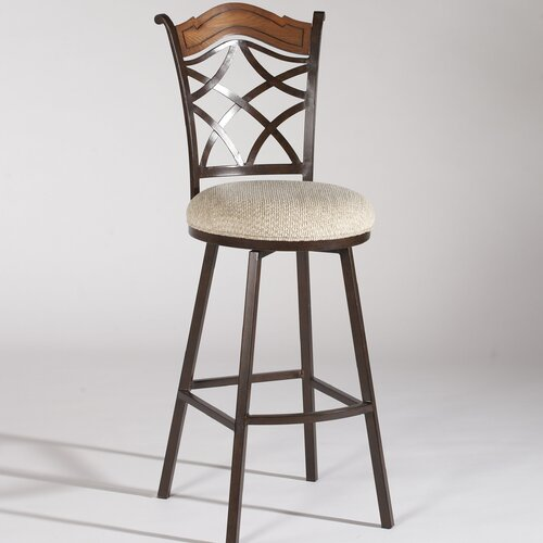 Chintaly Imports Swivel Bar Stool with Cushion