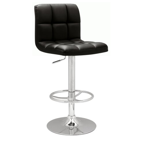 "Chintaly Imports 25"" Adjustable Bar Stool with Cushion"