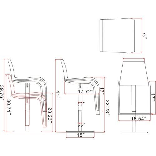 "Chintaly Imports 23"" Adjustable Bar Stool"