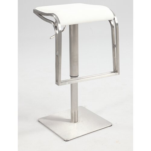 "Chintaly Imports 22"" Adjustable Bar Stool with Cushion"