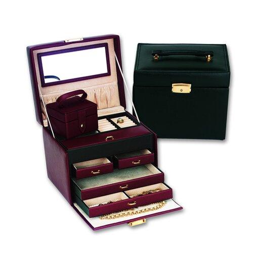 Budd Leather Ladies Classic Jewelry Box Travel Case