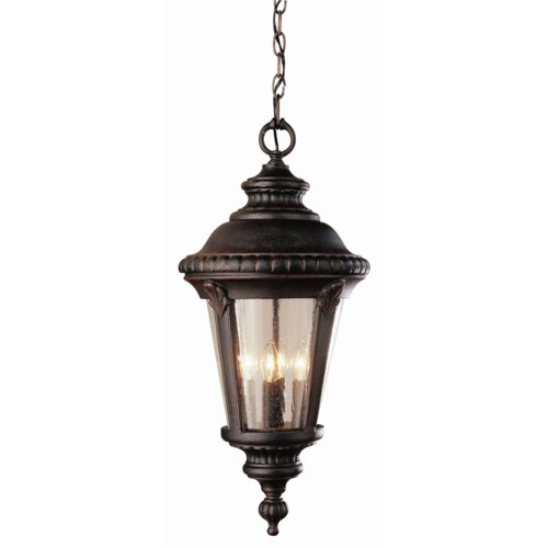 TransGlobe Lighting Outdoor 3 Light Hanging Lantern