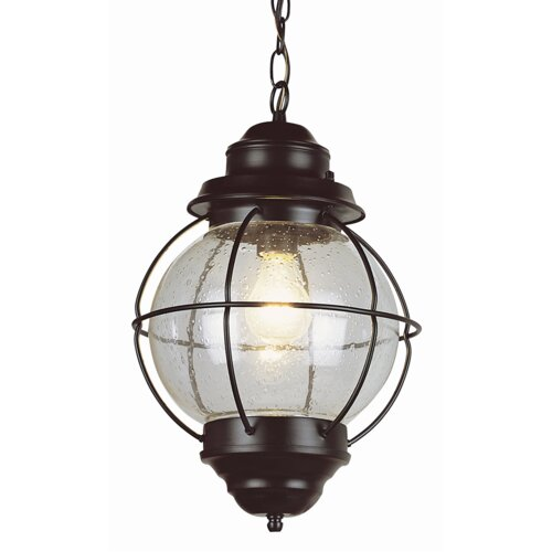 TransGlobe Lighting Outdoor Onion 1 Light Hanging Lantern