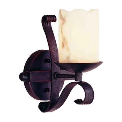 TransGlobe Lighting Olde World 1 Light Heavy Iron Wall Sconce