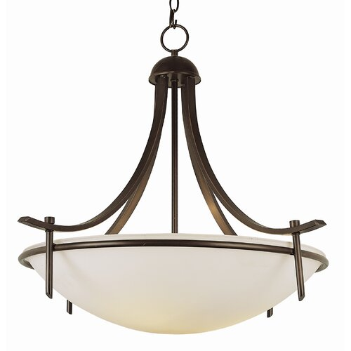 TransGlobe Lighting Contemporary 3 Light Inverted Pendant