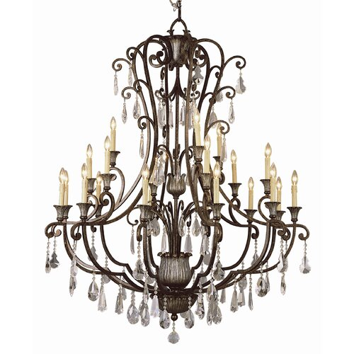 Crystal Flair 21 Light Chandelier