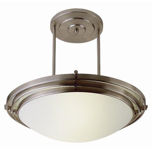 TransGlobe Lighting Contemporary 1 Light Inverted Pendant