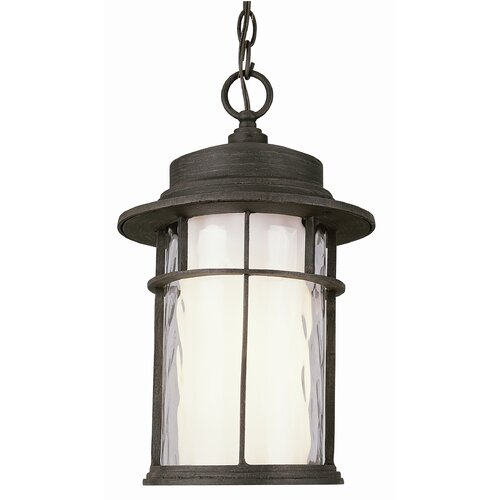 TransGlobe Lighting Exterior 1 Light Hanging Lantern with Double Glass