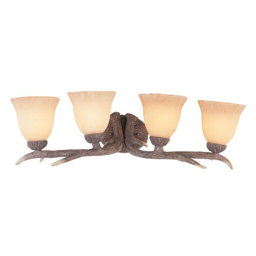 TransGlobe Lighting Deer Antler 4 Light Bath Vanity Light