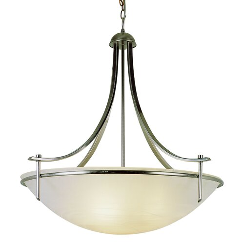 TransGlobe Lighting 4 Light Inverted Pendant