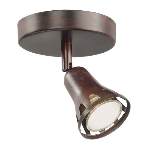TransGlobe Lighting 1 Light Semi Flush Mount Track Light