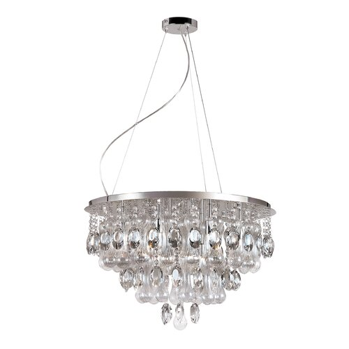 TransGlobe Lighting Contemporary Crystal 12 Light Pendant