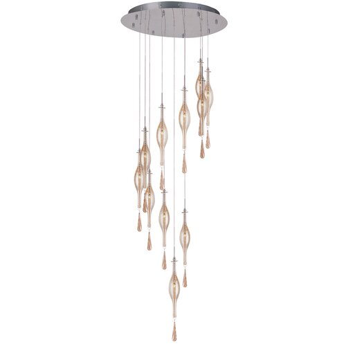 TransGlobe Lighting Contemporary 11 Light Drop Pendant