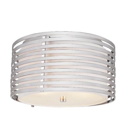 TransGlobe Lighting 3 Light Flush Mount