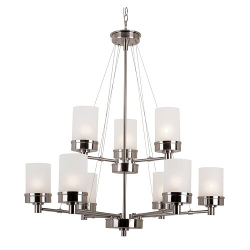 TransGlobe Lighting Urban Swag 9 Light Chandelier