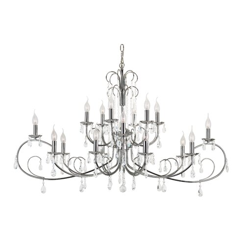 Chic Nouveau 18 Light Chandelier