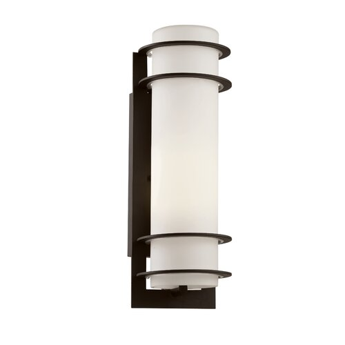 sea gull lighting 1 light outdoor wall sconce reviews wayfair. Black Bedroom Furniture Sets. Home Design Ideas